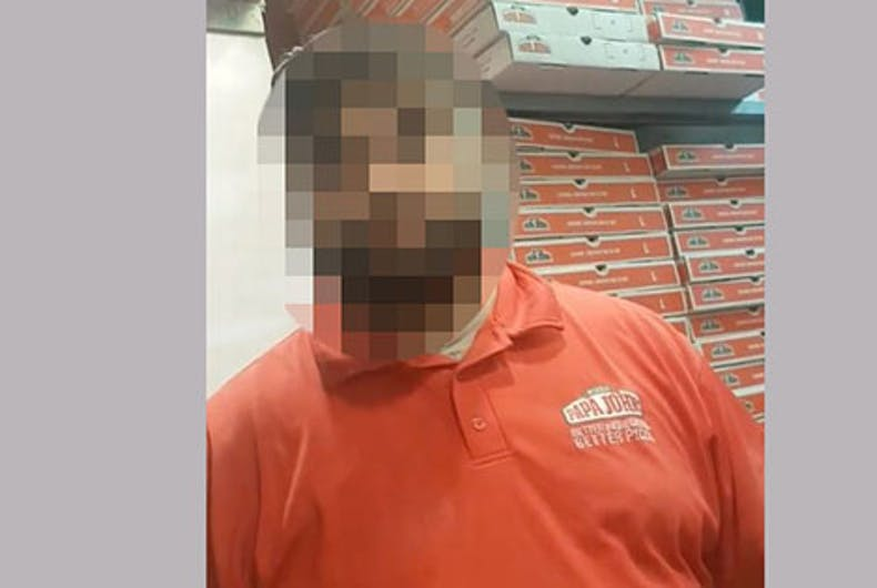 Papa John's employee busted after video shows him attacking gay men for hugging