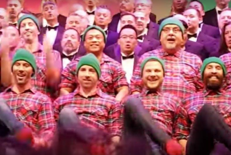 Watch: San Diego Gay Men's Chorus brings the cheer with 'Hand Jive Jingle'