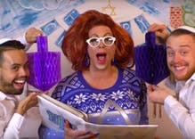 Watch: Jewish drag queen Sherry Vine tells the story of Hanukkah