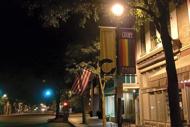 Mike Pence's hometown bans 'controversial' pride banners from town square