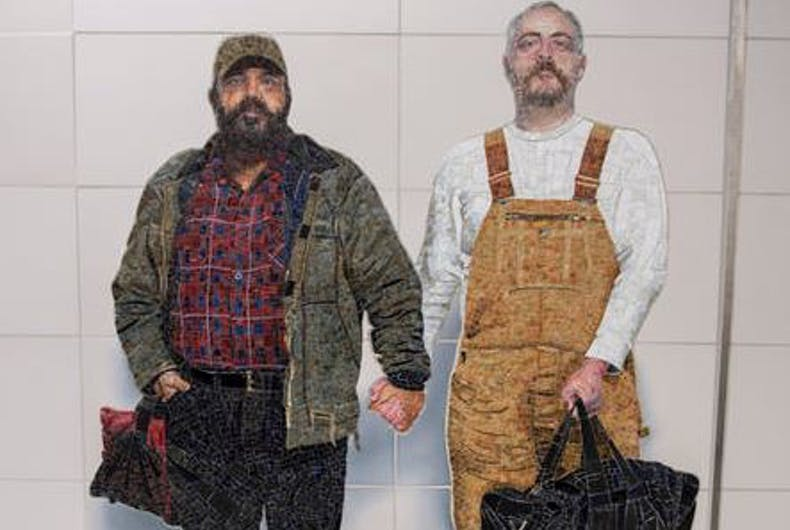 New NYC subway station has public art rarely seen: A gay couple