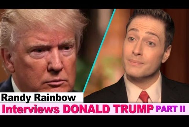 Randy Rainbow Donald Trump