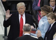Trump has been sworn in as America's 45th President