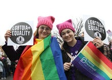 The faces of the Women's March turn Washington from red to rainbow