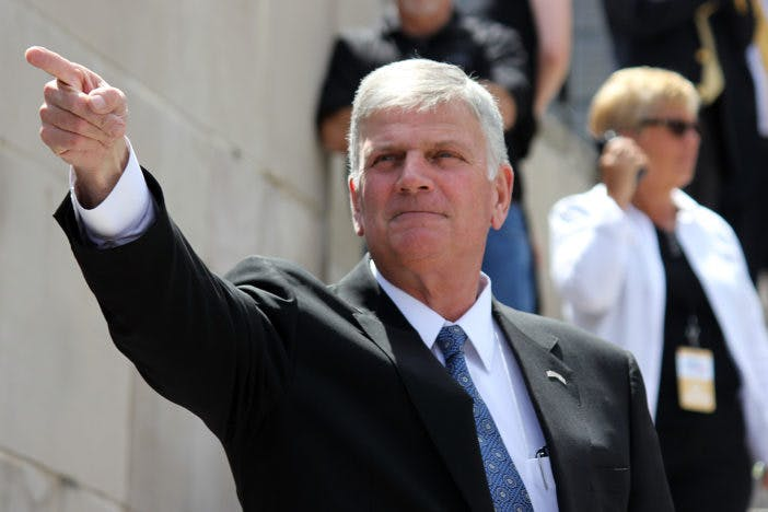 Franklin Graham is suing an event venue for refusing to let him spread anti-LGBTQ rhetoric