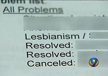 Woman in North Carolina shocked to see 'lesbianism' listed as medical condition