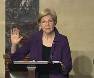 Republicans told Elizabeth Warren to shut up and sit down, and that is violence