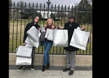 Chelsea Handler and gay, Muslim friends pose at White House with Nordstrom bags