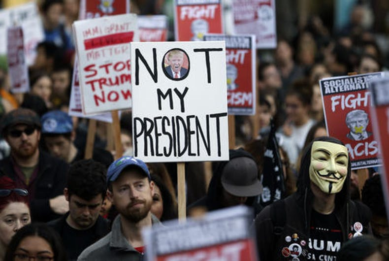 Not My President's Day rallies protesting Trump take place across the country