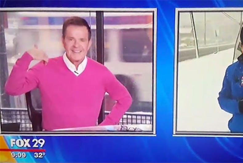 Homophobic 'joke' by doofus Fox reporter backfires spectacularly on live TV