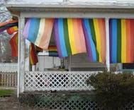 Someone dumped a dead cow in woman's yard after she hung rainbow flags on porch