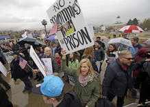 Polygamous families protest bigamy law in Utah: 'If we were gay, we'd be OK'