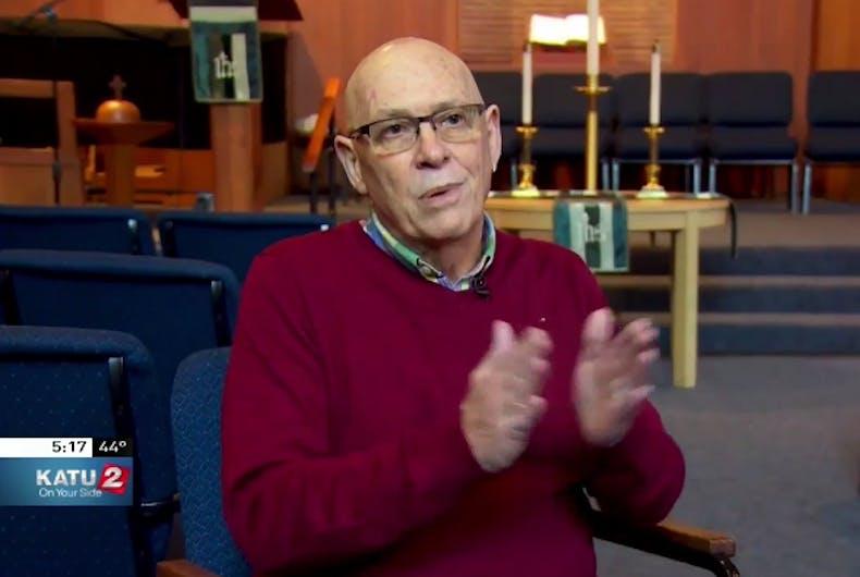 Watch: Deranged homophobe interrupts church congregation