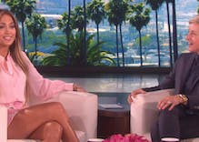 Watch Ellen flirt with Jennifer Lopez
