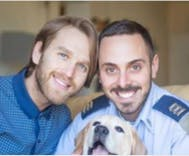 Israel Air Force posts photo of gay couple on Facebook to celebrate 'Family Day'