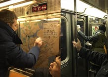 When New Yorkers found Nazi graffiti on a subway car, they sprang into action
