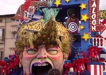 This amazing Italian carnival float mocking Trump's America will blow you away