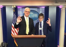 'Twinks4Trump' founder wraps up his first week on the White House press corps