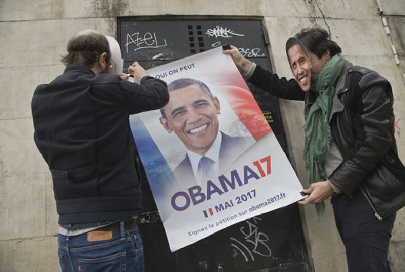 French citizens are begging Barack Obama to run for President