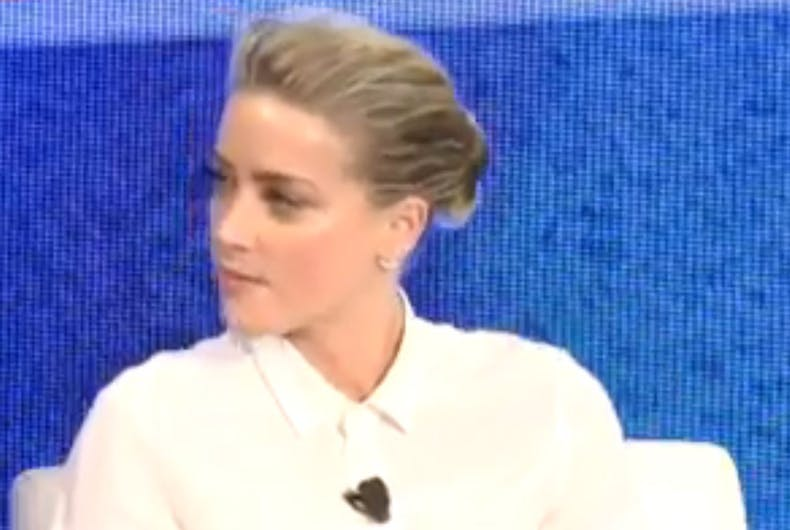 Bisexual actress Amber Heard urges Hollywood's closeted gays to come out