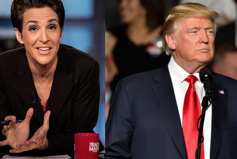 Rachel Maddow got her hands on a Trump tax return and showed it on TV