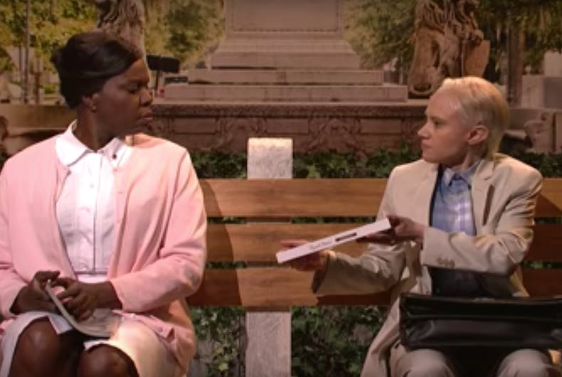 Watch: Kate McKinnon returns to 'SNL' to imagine Jeff Sessions as Forrest Gump
