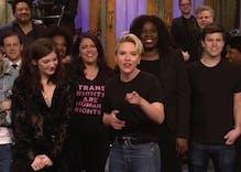 SNL mocks Logo's 'Fire Island,' cast shows support for transgender rights