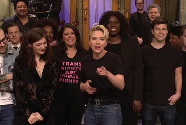 SNL mocks Logo's 'Fire Island,' cast shows support for transgender rights