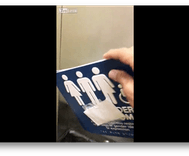 Watch: 'Patriotic miscreant' tears down gender neutral bathroom signs