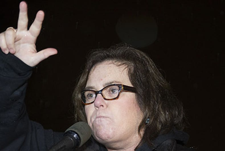 Rosie O'Donnell talks up crowd of '1.8 million people' at her anti-Trump protest