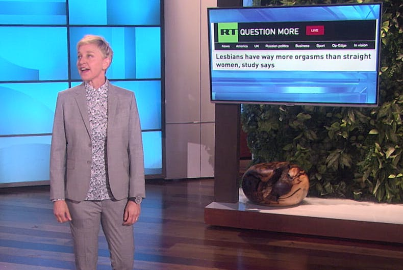 Not getting enough? Ellen discreetly suggests lesbian love to straight viewers