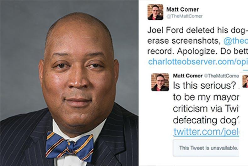 Joel Ford dog pooping tweet