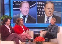 Melissa McCarthy talks to Ellen about playing Sean Spicer