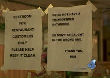 Restaurant posts transphobic, threatening bathroom sign