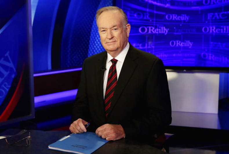 Bill O'Reilly says LGBTs want to sweep 'white people out of power'