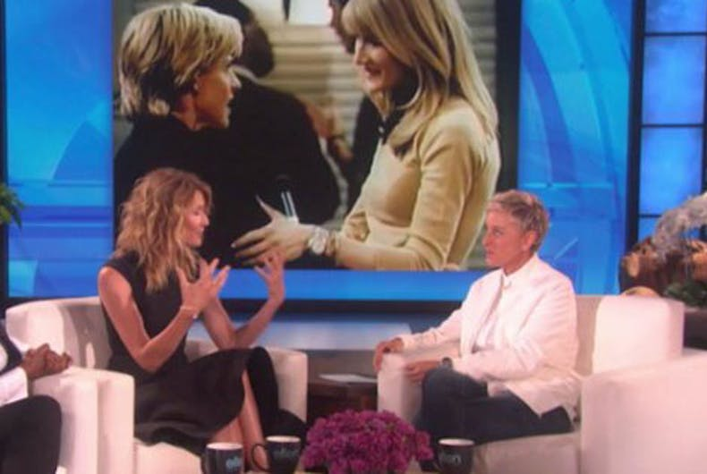 Ellen reunites with Laura Dern & Oprah 20 years after coming out on TV