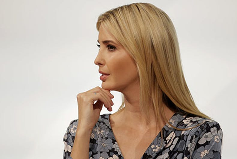 Ivanka Trump, daughter and adviser of U.S. President Donald Trump listens during a panel of the W20 Summit in Berlin.