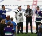 These diehard hockey fans put their dream wedding on ice