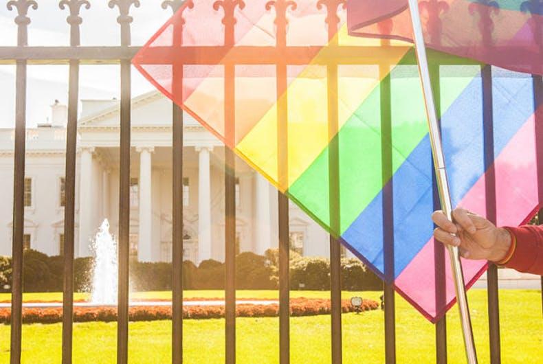 white house pride flag