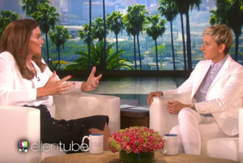 Caitlyn Jenner blames Ellen for her unpopularity in the LGBTQ community