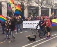 Police stop bombing in Berlin at LGBTQ rights rally