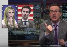 John Oliver unleashes on Ivanka Trump & Jared Kushner