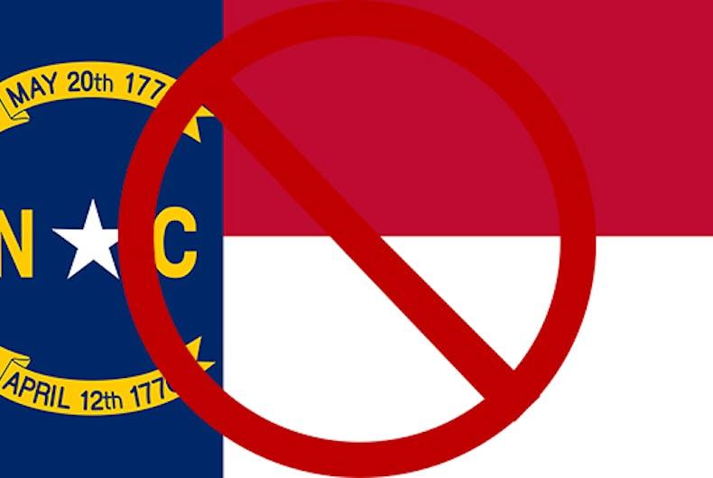 North Carolina travel ban