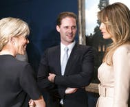 Luxemburg's gay first gentleman mingles with first ladies & a queen at NATO summit