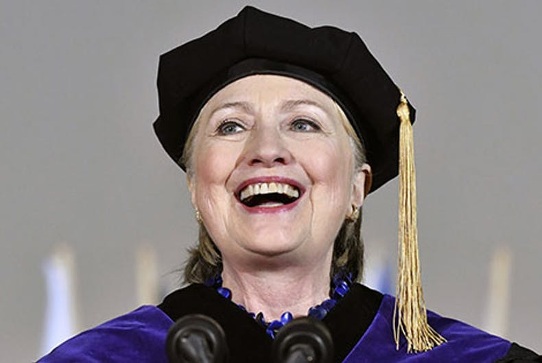 Hillary Clinton goes full 'Nasty Woman' in powerful, hopeful commencement speech