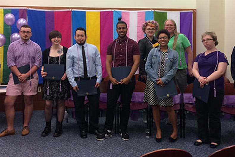 LGBTQ grads honored in 1st Lavender Commencement at Connecticut university