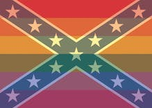 The rainbow flag is the new Confederate flag?