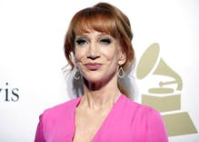 Kathy Griffin apologizes for gory Trump 'joke,' but he's not satisfied