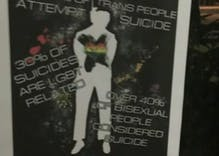 Flier at bus stop in Houston encourages LGBTQ people to commit suicide