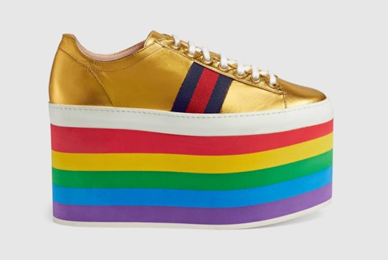 Gucci's new pride-themed sneakers are every fashion queen's dream come true
